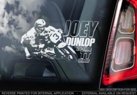 Joey Dunlop Window Sticker